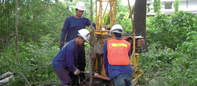 Rotary drilling uses a rotary action combined with downward force to grind away the material in which a hole is being made. Rotary methods may be applied to soil or...