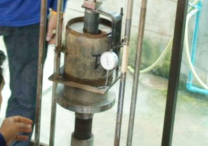 mold soil piston dial gage penetration