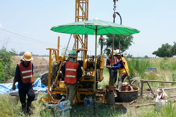 soil boring rotary drilling