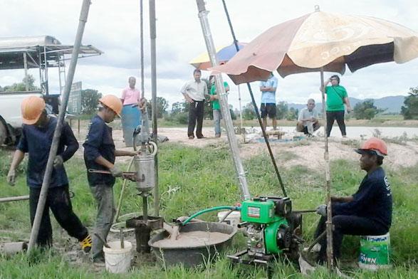 โครงการก่อสร้างหอถังระบบประปาบ้านหนองประดู่ หอถังเหล็ก