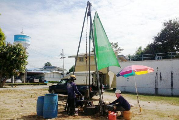 โครงการวิเคราะห์ความแข็งแรงของโครงสร้างอาคารระบบผลิตน้ำประปา